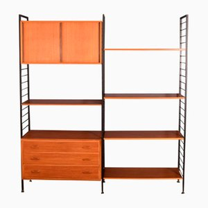 Teak Ladderax Shelving Wall System from Staples, 1960s