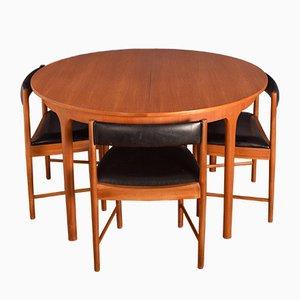 Teak Esstisch & Stühle von Tom Robertson für McIntosh, 1960er