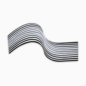 Gray Wave, Abstraktes Gemälde, 2018
