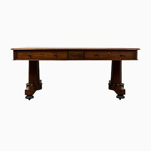 Victorian Leather Topped Library Table