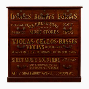 Antique Music Store Chest of Drawers