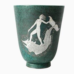 Argenta Vase von Wilhelm Kåge für Gustavsberg
