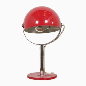 Red Metal Table Lamp