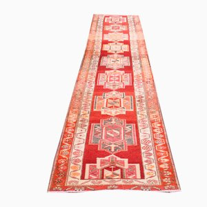 Vintage Turkish Hand-Knotted Wool Oushak Runner