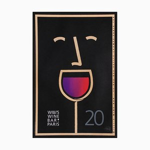 Willi's Wine Bar Poster by Tom Fowler, 2003