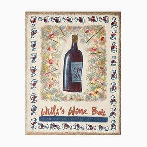 Póster de bar de vinos Willi de Cathy Millet, 1986