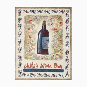 Willi's Wine Bar Poster by Cathy Millet, 1986