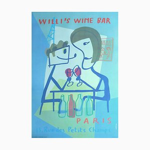 Willi's Wine Bar Poster by Xavier Mariscal, 1998