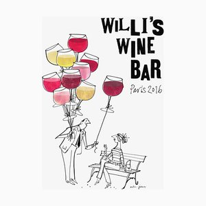 Willi's Wine Bar Poster by MH Jeeves, 2016
