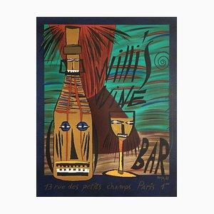 Willi's Wine Bar Poster by François Voisin, 1988