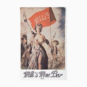 Póster de bar de vinos Willi de Anthony Palliser, 1990