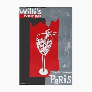 Affiche Willi's Wine Bar par Sophie Herxheimer, 1997