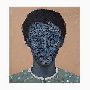 Contemporary Jordanian Artwork von Wedad Alnasser, Resonant Self # 2, 2021