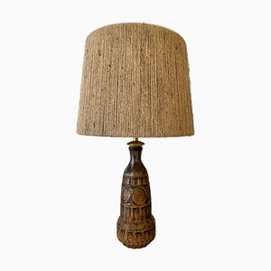 Mid-Century Ceramic Table Lamp by Marius Bessone for Vallauris, France, 1960s
