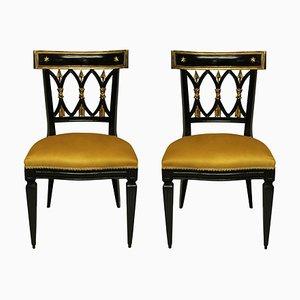 Chaises d'Entrée Empire Revival, France, Set de 2