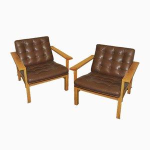 Mid-Century Lounge Chairs by Ole Gjerløv Knudsen & Torben Lind for France & Daverkosen, Set of 2