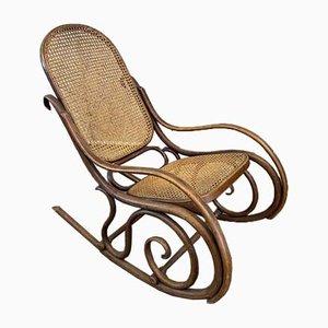 Art Nouveau Rocking Chair from Gebrüder Thonet Vienna