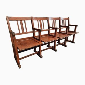 Antique Red & Brown Cinema Seats