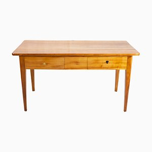 19th-Century Biedermeier Solid Cherry Wood Table