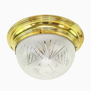 Vintage Art Deco Messing Deckenlampe