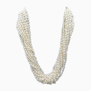 Necklace in 18kt Gold with Pearls