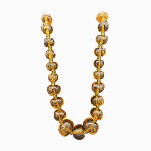 Amber and Gold Pearl Necklace