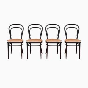 Nr. 214 Stühle von Michael Thonet für Thonet, 1980er, 4er Set