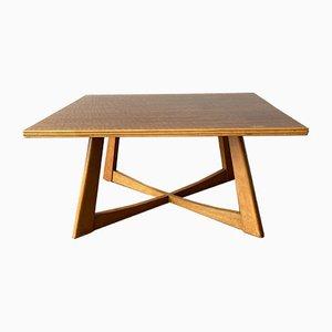 Large Mid-Century Cross Leg Coffee Table