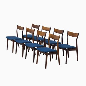 Rosewood by Dining Chairs H.P. Hansen Møbelindustri, Denmark, Set of 8