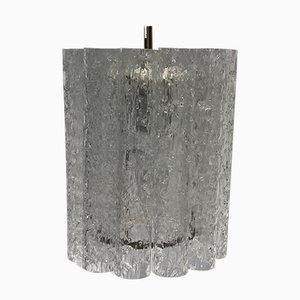 Eisglas Hängelampe von Doria Leuchten