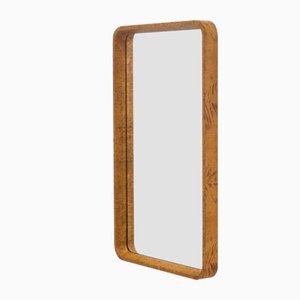 Vintage Maple Burl Rectangular Mirror