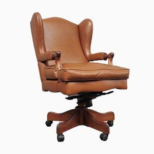 Chaise de Bureau en Cuir de Fior, 1980s