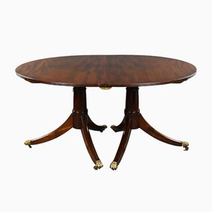 19th-Century English Regency Style Pedestal Dining Table