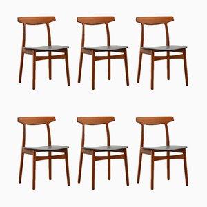 Dining Chairs by Henning Kjaernulf for Bruno Hansen, 1955, Set of 6