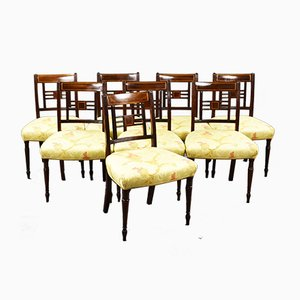 19th-Century Mahogany Dining Chairs, Set of 8