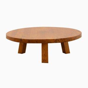 Brutalist French Oak Coffee Table