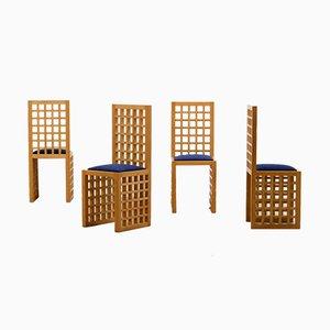Italienischer Handgefertigter Beistellstuhl aus Eiche