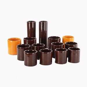 Set aus Keramikgläsern & Flaschen