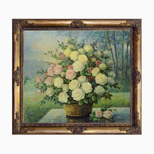Rose gialle en cesto par Giovanni Bonetti