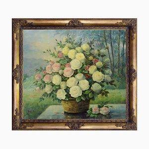 Rose gialle in cesto by Giovanni Bonetti