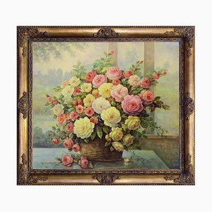 Cesto con fiori di Giovanni Bonetti