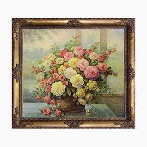 Cesto con fiori par Giovanni Bonetti