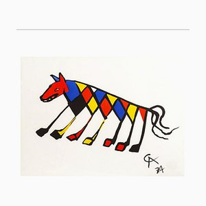 Beastie Lithograph by Alexander Calder for Braniff Airlines, 1974