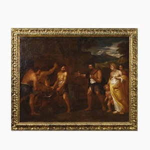 Antique Italian Mythological Painting, 17th Century