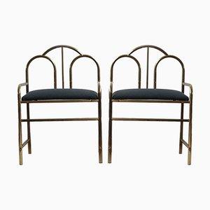 Französische Art Deco Beistellstühle, 2er Set
