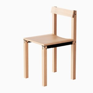 Tal Chairs in Natural Oak from Kann Design, Set of 10