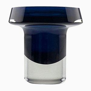 Sapphire Blue and Clear Glass KF 260 Art Object by Kaj Franck for Nuutajärvi-Notsjö, Finland, 1963