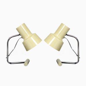 Weiße Tischlampen von Josef Hurka für Napako, 1960er, 2er Set