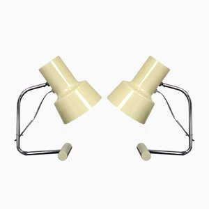 White Table Lamps by Josef Hurka for Napako, 1960s, Set of 2