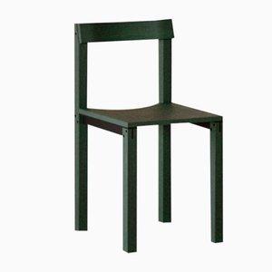 Tal Chairs in Green Oak from Kann Design, Set of 10